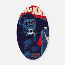 King Kong Oval Car Magnet