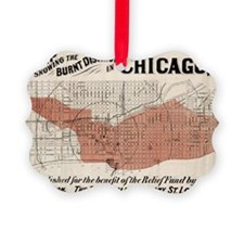 Chicago Map from 1871 after fire  Ornament