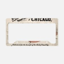 Chicago Map from 1871 after f License Plate Holder