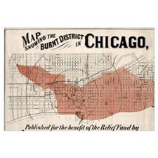 Chicago Map from 1871 after fire Restored