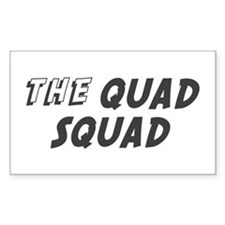 THE QUAD SQUAD Rectangle Decal