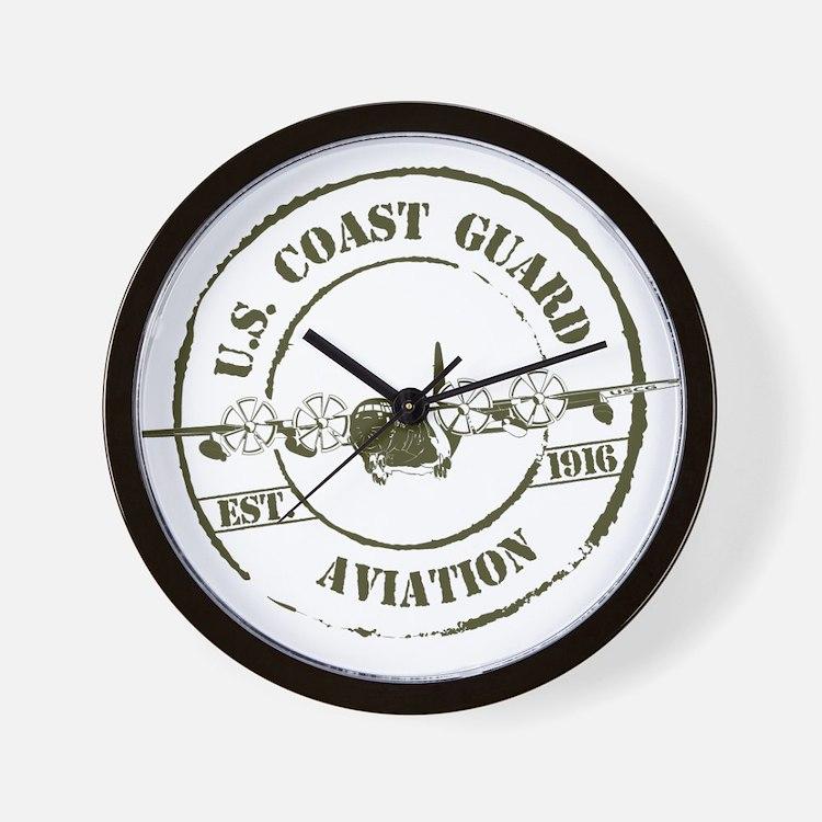 USCG Aviation (C-130) Wall Clock