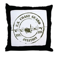 USCG Aviation (C-130) Throw Pillow