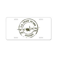 USCG Aviation (C-130) Aluminum License Plate