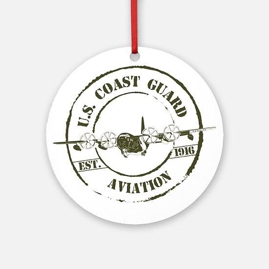 USCG Aviation (C-130) Ornament (Round)