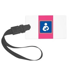 Breastfeeding symbol 7b14 pink g Luggage Tag