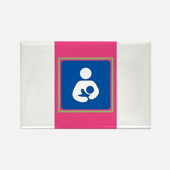 Breastfeeding symbol 7b14 pink green Magnets