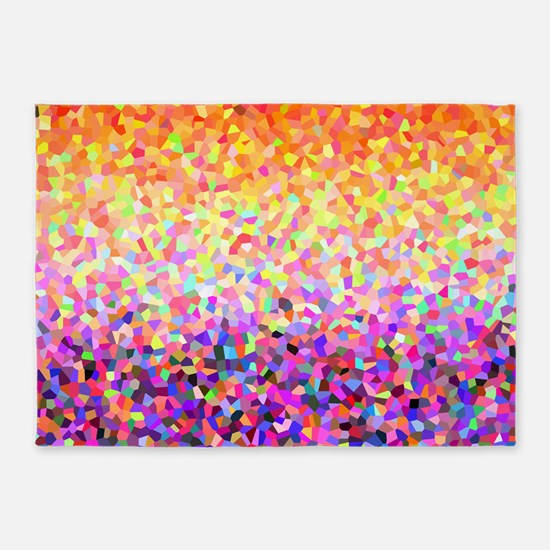 Orange Purple Sparkle 5'x7'Area Rug