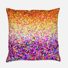 Orange Purple Sparkle Everyday Pillow