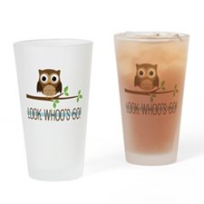 Look Whoo's 60 Owl Birthday Drinking Glass