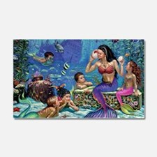 Mermaid And Her Children Car Magnet 20 x 12