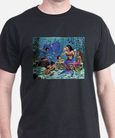 Mermaid And Her Children T-Shirt