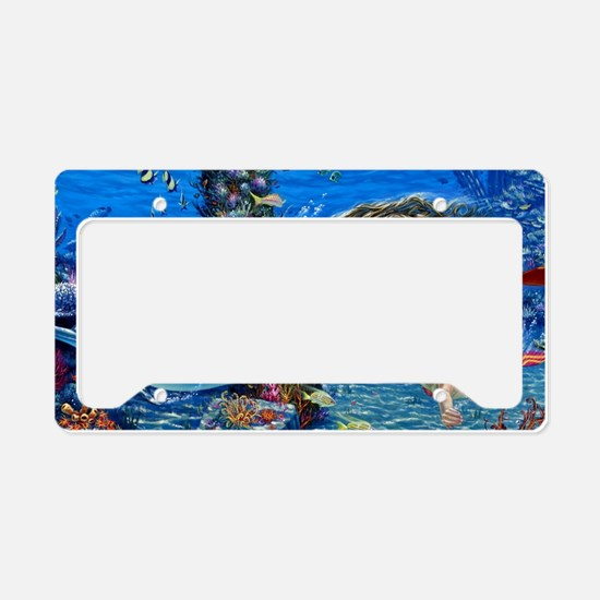 Mermaid And Her Daughter Swimming License Plate Ho
