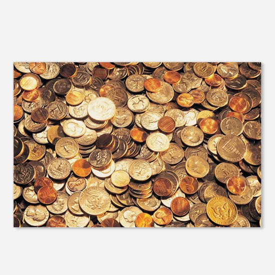 U.S. Coins Postcards (Package of 8)