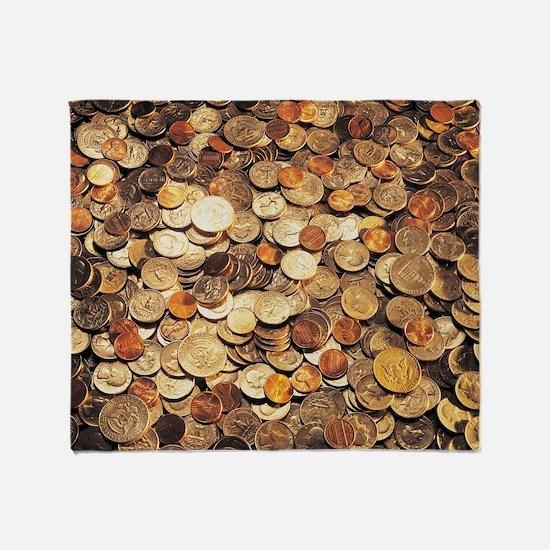 U.S. Coins Throw Blanket