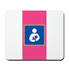 Breastfeeding Symbol on Pink Mousepad