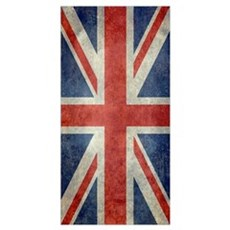 Vintage Union Jack flag Canvas Art