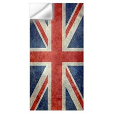 Vintage Union Jack flag Wall Decal