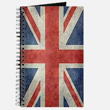Vintage Union Jack flag Journal