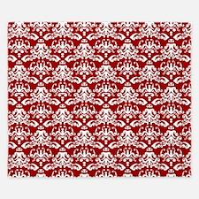 white damask pattern on Crimson King Duvet