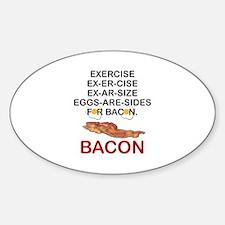 Cute Eggs bacon Sticker (Oval)