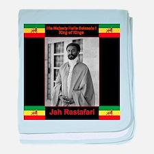 Haile Selassie I Jah Rastafari baby blanket