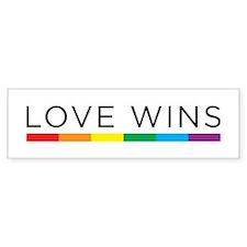 Love Wins Bumper Car Car Sticker