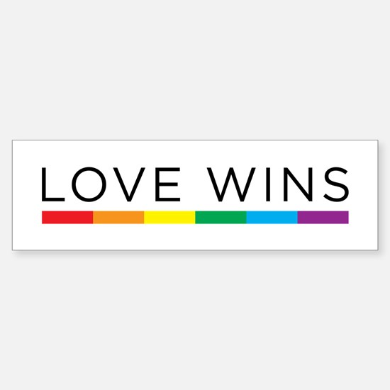 Love Wins Bumper Car Car Sticker