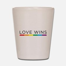 Love Wins Shot Glass