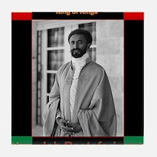 Haile Selassie I Jah Rastafari Tile Coaster