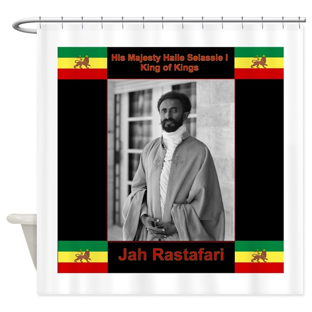 Haile Selassie I Jah Rastafari Shower Curtain by Admin_CP28331633
