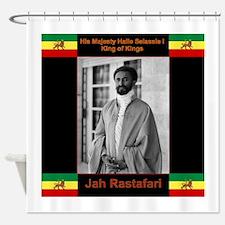 Haile Selassie I Jah Rastafari Shower Curtain