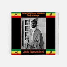 Haile Selassie I Jah Rastafari Throw Blanket