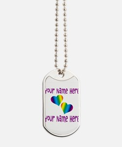 Rainbow Love Dog Tags