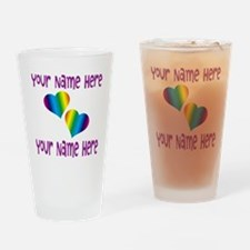 Rainbow Love Drinking Glass