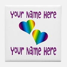 Rainbow Love Tile Coaster