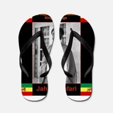 Haile Selassie I Jah Rastafari Flip Flops