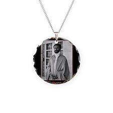Haile Selassie I Jah Rastafa Necklace Circle Charm
