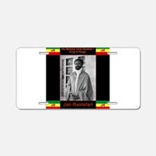 Haile Selassie I Jah Rastaf Aluminum License Plate
