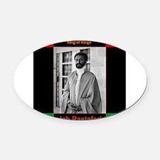Haile Selassie I Jah Rastafari Oval Car Magnet
