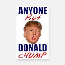 Anyone But Donald Chump Rectangle Car Magnet