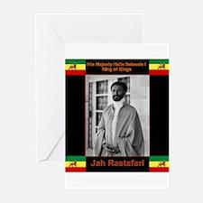 Haile Selassie I Jah Rastafari Greeting Cards