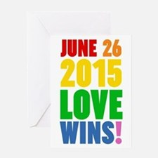 June 26 2016 Love Wins Greeting Cards
