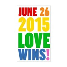 June 26 2016 Love Wins Decal