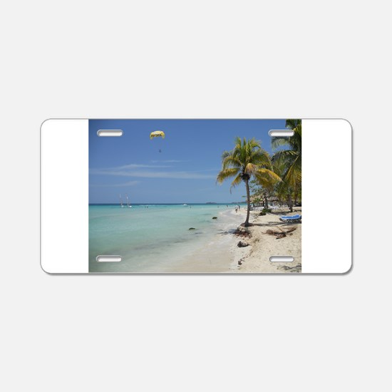 Negril Beach Jamaica Aluminum License Plate