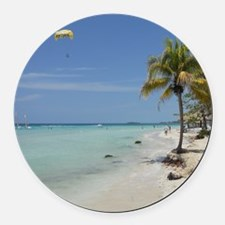 Negril Beach Jamaica Round Car Magnet