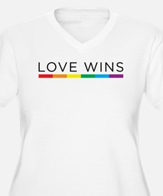 Love Wins Plus Size T-Shirt
