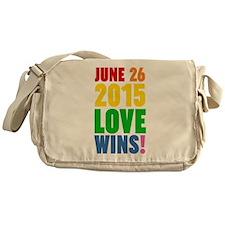 June 26 2016 Love Wins Messenger Bag