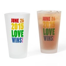 June 26 2016 Love Wins Drinking Glass