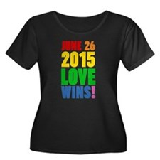 June 26 2016 Love Wins Plus Size T-Shirt